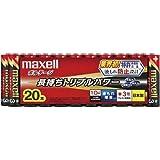 maxell アルカリ乾電池 「長持ちトリプルパワー&液漏れ防止設計」 ボルテージ 単3形 20本 シュリンクパック入 LR6(T) 20P