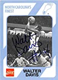 Autograph Warehouse 249017 Walter Davis Autographed Basketball Card - North Carolina Tar Heels NCAA 1989 College Collection - No