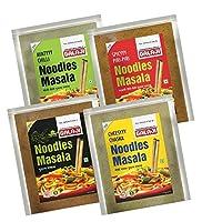 4つの品種の麺マサラコンボ - 50グラム各(200グラム) 。インドのマサラ、ハーブスパイスはインドの味最高の料理をミックス