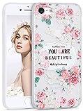 iPhone 8 ケース,Imikoko アイフォン7/8 カバー case 花柄 おしゃれ 人気 かわいい ソフト スマホケース 携帯保護カバー 耐衝撃 (iPhone7 4.7, ボダン)