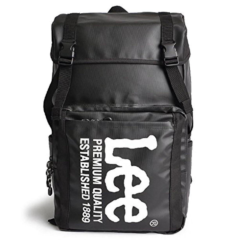 数値ほのか宣伝[リー] Lee リュック バックパック レディース メンズ リュックサック フラップリュック ロゴ シンプル 通勤 通学 ブラック