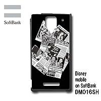 ディズニーモバイル オン ソフトバンク DM016SH スマホケース カバー コラージュ 5-038
