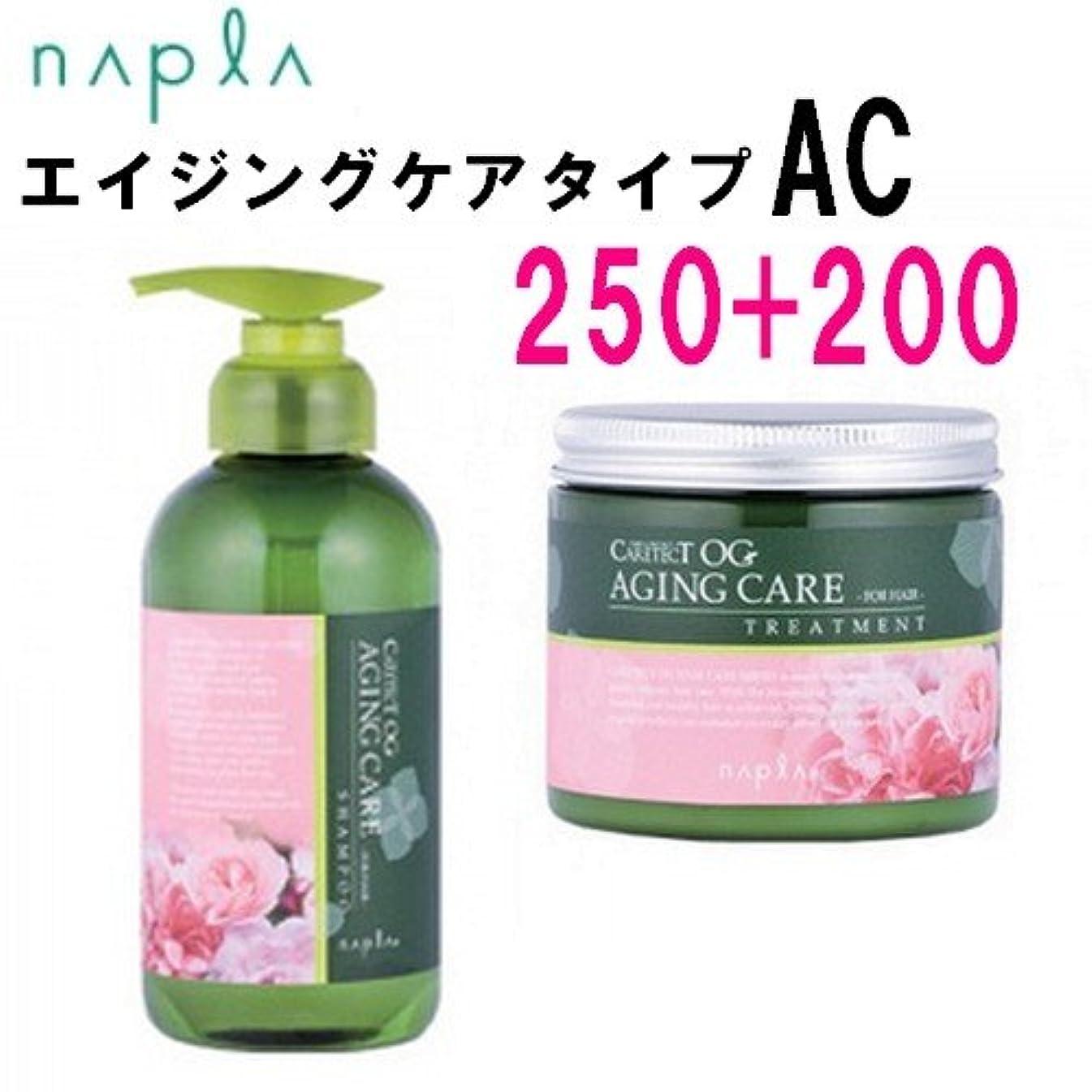 助言する肉屋摂氏ナプラ ケアテクトOG シャンプー&トリートメント AC セット 250ml/200g