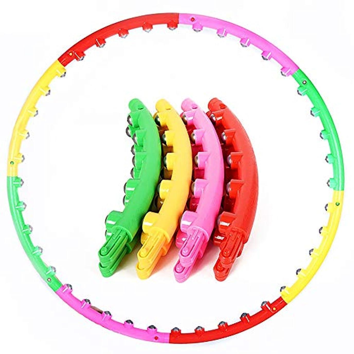 ビル定説後ろ、背後、背面(部品質フラフープ 8取り外し可能な減量エクササイズフラフープとプラスチックフラフープ 運動、ダンス、フィットネス用 (色 : Red+yellow+green+magenta, Size : 95cm)