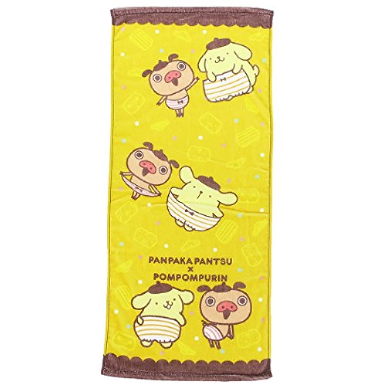 ポムポムプリン×パンパカパンツ[フェイスタオル]プリントロングタオル/なかよしパンツ サンリオ