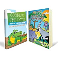 Connect the Dot Books Bundle - Two Great Connect the Dot Books for Kids - Includes a Connect the Dots Jungle Animals Book and an Animal Coloring Pages for Children for Kids with 80+ Great Images - Ideal for Boys and Girls and Absolutely Mom Approved by Speedy Coloring Books [並行輸入品]