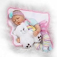 NPK新しいRebornベビー人形ガールClose Eyes Realistic Lifelike新生児幼児用シリコンソフト22インチベビー人形Boneca Rebornsの子
