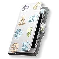 スマコレ 手帳型 レザー ケース 手帳タイプ 革 フリップ ダイアリー 二つ折り 横開き 革 ZenFone Zoom S ケース スマホケース スマホカバー nb ZenFone Zoom S ze553KL 009986 ASUS エイスース simfree SIMフリー 宇宙 ロケット 乗り物 ze553kl-009986-nb