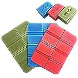 軽量 折りたたみミニマット 座布団 マット 8つ折り コンパクト マルチクッション アウトドア ピクニック レジャーシート 一人用 (グリーン・ブルー・レッド 3個セット)