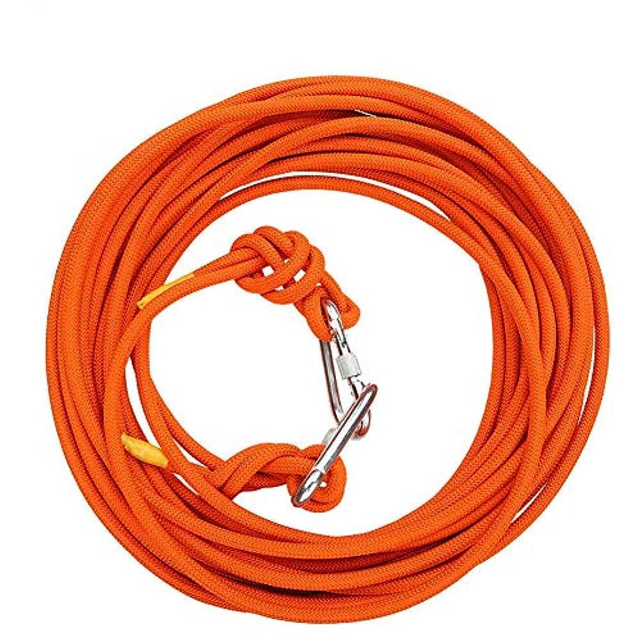 ベッツィトロットウッド消えるスーダンクライミングロープ、10ミリメートルポリエステル高強度ワイヤーロープ安全クライミングロープ火災エスケープ救助パラシュートロープ用ケイビングトレーニング,Orange,50m