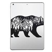 第1世代 iPad Pro 9.7 inch インチ 共通 スキンシール apple アップル アイパッド プロ A1673 A1674 A1675 タブレット tablet シール ステッカー ケース 保護シール 背面 人気 単品 おしゃれ 熊 模様 森 014950