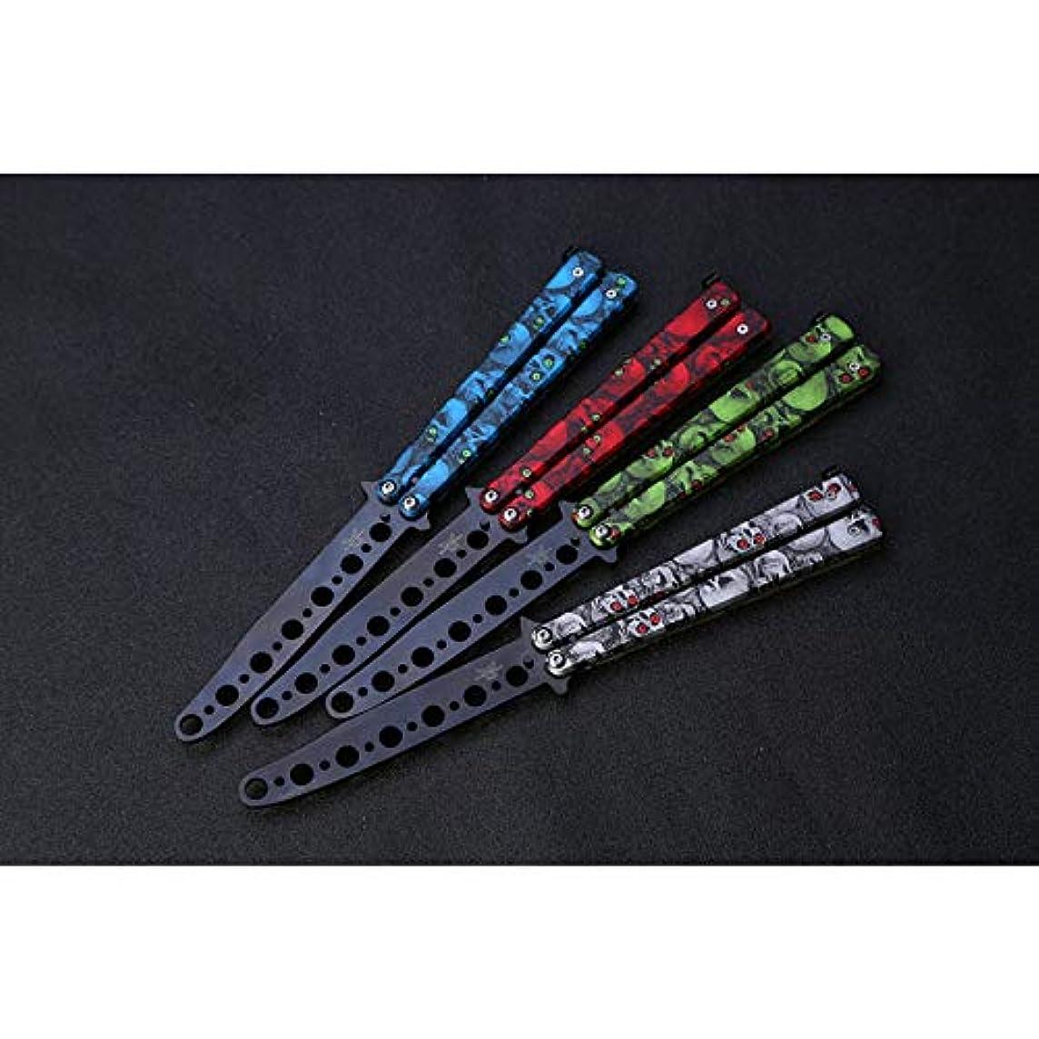 ミス価値召集するRabugoo ステンレス鋼の折る蝶ナイフの毛の櫛の多彩な様式のナイフの櫛 青