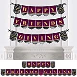 Big Dot of Happiness エレガント 感謝祭 友人 - 友情 感謝祭 パーティー バンティング バナー - パーティーデコレーション - Happy Friends Giving