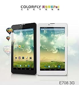 COLORFLY E708 3G SIMフリー 電話[3G SIMカード 通話 データ通信対応][GPS][Bluetooth][IPS液晶][クアッドコア] 8GB Android4.2 200万画素カメラ ROOT取得済み/初期化しても日本語仕様