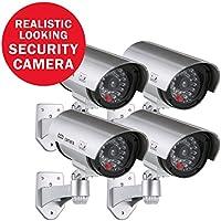 ANNKE 2パック ダミー フェイク 監視 セキュリティ CCTV 銃弾カメラ 屋内 屋外カメラ フラッシュレッド LED