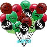 40個パック マイナーバルーン マイナーゲームパーティー用品 誕生日パーティーのお土産デコレーション 両面デザイン