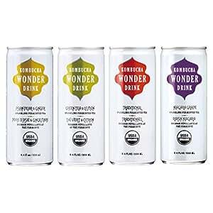 コンブチャワンダードリンク4缶セット (4フレーバー各1缶ずつ)