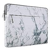 Mosiso ラップトップ 衝撃吸収 スリーブケース キャンバス 撥水 バッグ 保護 インナーケース 13-13.3インチ ノートパソコン/MacBook Air/MacBook Pro用(ホワイト マーブル)