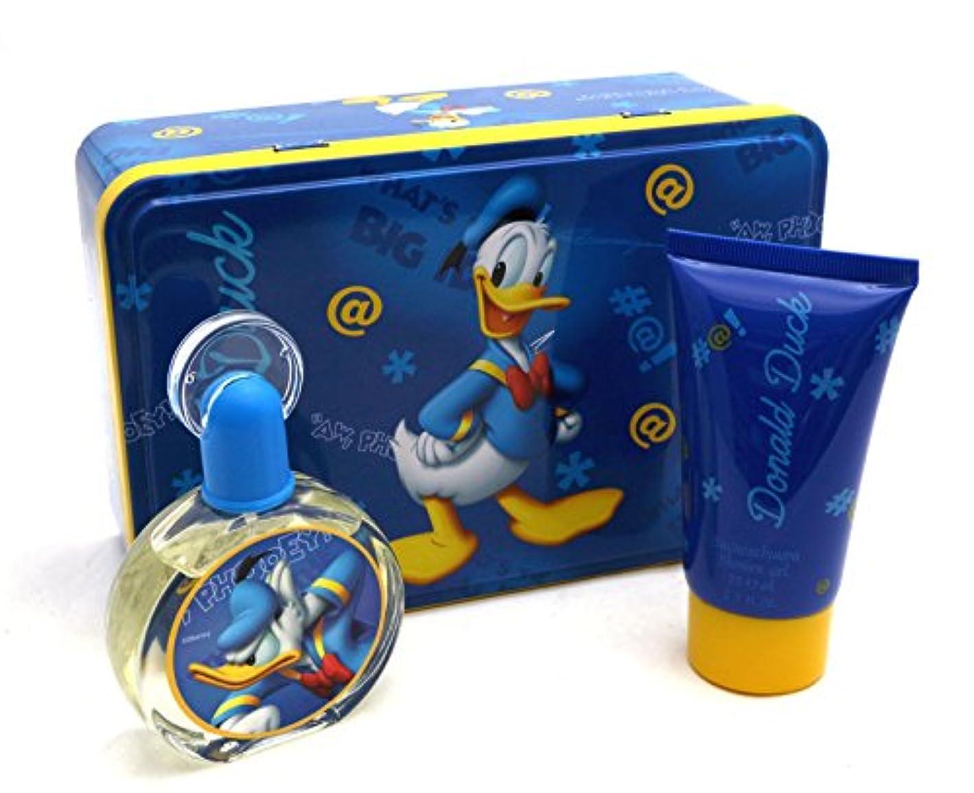 髄非常に怒っていますテクトニックDonald Duck (ドナルドダック) 1.7 oz (50ml) EDT Spray + 2.5 oz (75ml) Shower Gel by Disney