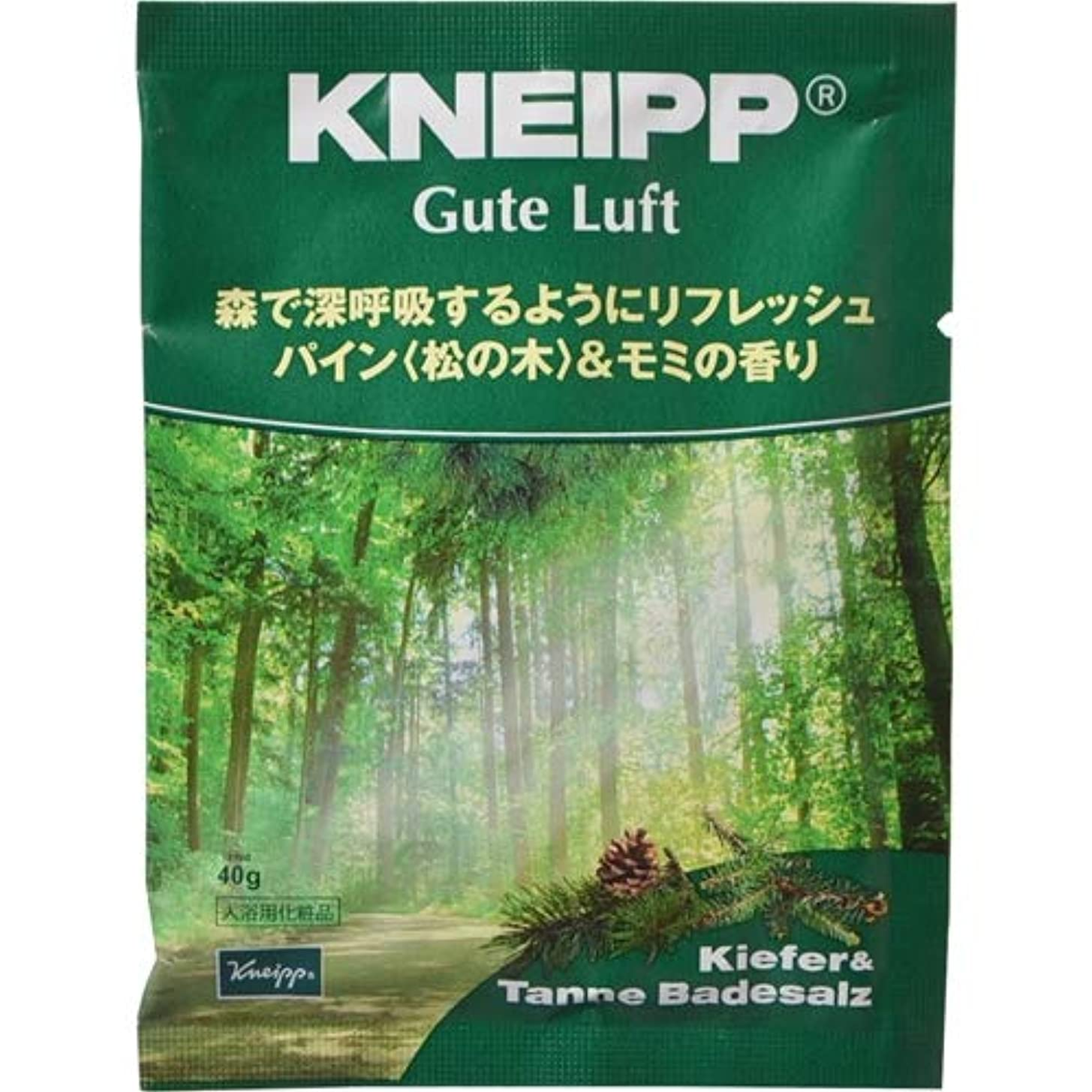 段落シダ書くクナイプ?ジャパン クナイプ グーテルフト バスソルト パイン<松の木>&モミの香り 40g