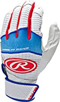 (Small, White/Red) - Rawlings Workhorse 950 Series Youth Batting Gloves