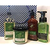 Bath and Body Works Eucalyptus Spearmint Ultimate Gift Set, 3 Wick Candle, Full Size Body Lotion, Shower Gel, Foaming Hand Soap and Gingham Gift Bag with Tissue