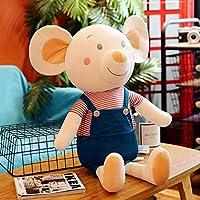 縫い包み ネズミ クッション 添い寝枕 人形 柔らかい キュートな おもちゃ インテリア 誕生日 ふわふわ プレゼント 可愛い もちもち 癒し まくら 赤ちゃん 置物 部屋飾り お昼寝 ぬいぐるみ ブルー