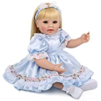 20インチ 欧米大人気 リアル 女の子 人形 着せ替えはできる ドール 安全ビニール製 子ども おもちゃ ぬいぐるみ 西洋風 レトロ調 子供への誕生日プレゼントに最適 (青色 プリンスドレス)