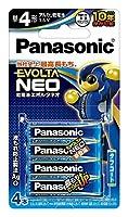 パナソニック エボルタ NEO 単4形アルカリ乾電池 4本パック 日本製 LR03NJ/4B