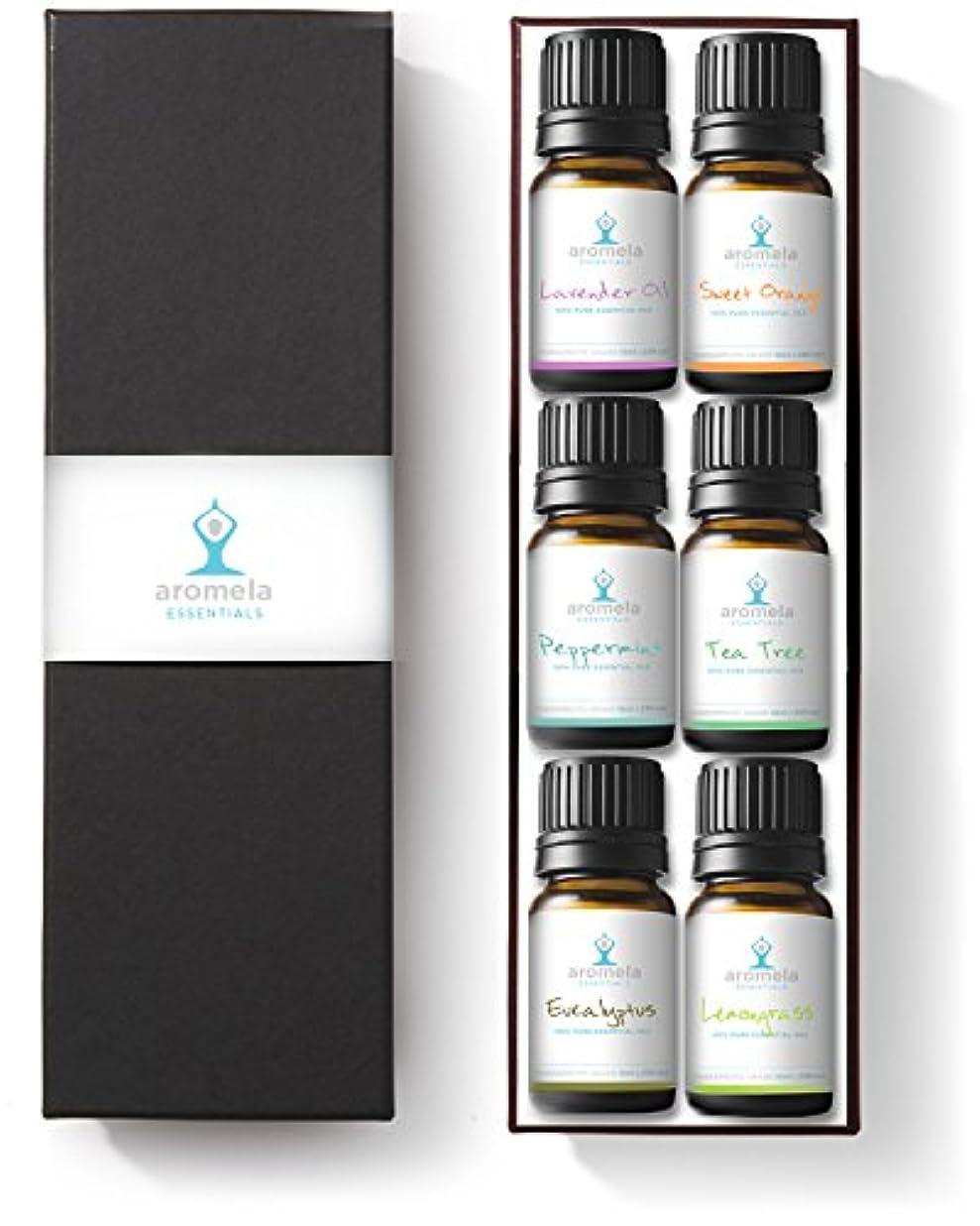 前文シンカンであるAromela Essential Oils Aromatherapy Gift Set - 100% Pure Therapeutic Grade Guaranteed - Premium 6 Bottles of 10ml...