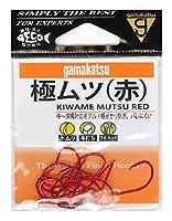 がまかつ(Gamakatsu) 極(キワメ)ムツ フック(赤) 15号 釣り針