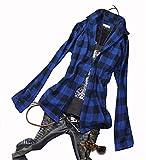 チェックシャツ メンズ 長袖 5カラー ビエラ 起毛 チェックネルシャツ アメカジ フランネルシャツ 長袖シャツ モテ系 赤 白 青 黒 ブラック ホワイト 大きいサイズ エスニック チェック ネルシャツ シャツ カットソー チェック BLUE(青) Mサイズ