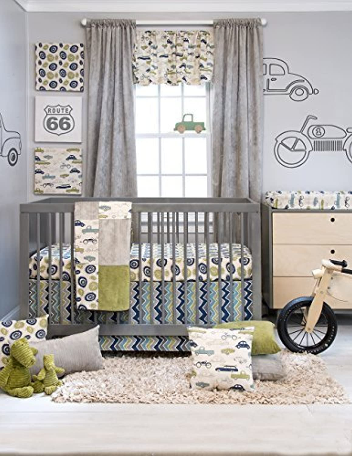 Sweet Potato Crib Bedding Set Uptown Traffic 3 Piece [並行輸入品]