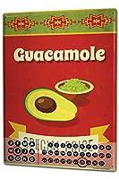 カレンダー Perpetual Calendar Kitchen guacamole snack Tin Metal Magnetic