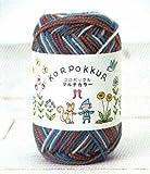 秋冬毛糸 ハマナカ コロポックル<マルチカラー> 106[編み物/手編み]