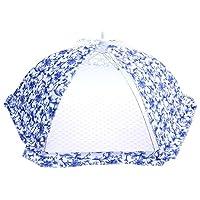 Demiawaking 食卓カバー フードカバー 洗える 折り畳み式 青絵