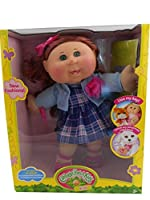 Cabbage Patch Kids 36cm Girl, Caucasian Plaid Blue Dress with Key