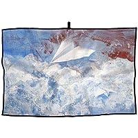 青い 空 紙飛行機 派手 ユニーク おしゃれな スタイリッシュ 面白い ラブリー タオル アウトドア スポーツ タオル アダルト ゴルフタオル