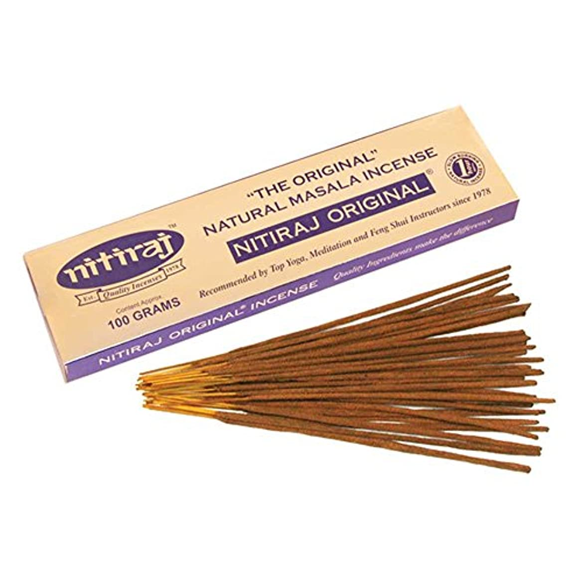 ライバル図悪性腫瘍(100 Grammes) - Nitiraj The Original Natural Masala Incense Slow Burning 1 Hour per Stick