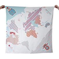 Weeagoamigo Printed Muslin Swaddling Blanket - Baby World Map