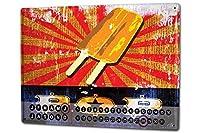 カレンダー Perpetual Calendar World Trip M.A. Allen Popsicle Tin Metal Magnetic