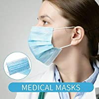 50 Pcs 3 Layer Disposable Medical Protective Face Mouth Masks PM2.5 Influenza Bacterial Facial Dust-Proof Safety Masks
