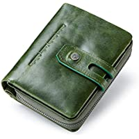LDUNDUN-BAG, 2019 Casual Buckle Leather Short Multi-Function Female Wallet Women's Wallet (Color : Green, Size : S)