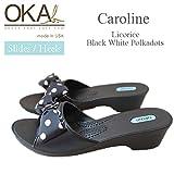 OKA b.(オカビー) Caroline Licorice/Black with White Polka Dots サイズS 約22.5~23.5cm C-22029PD C-22029PD