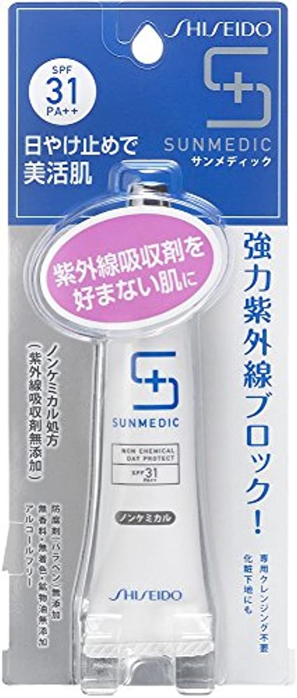 切手プレート織機サンメディックUV デイプロテクト ノンケミカル クリーム 顔?首用 30g SPF31+ PA++