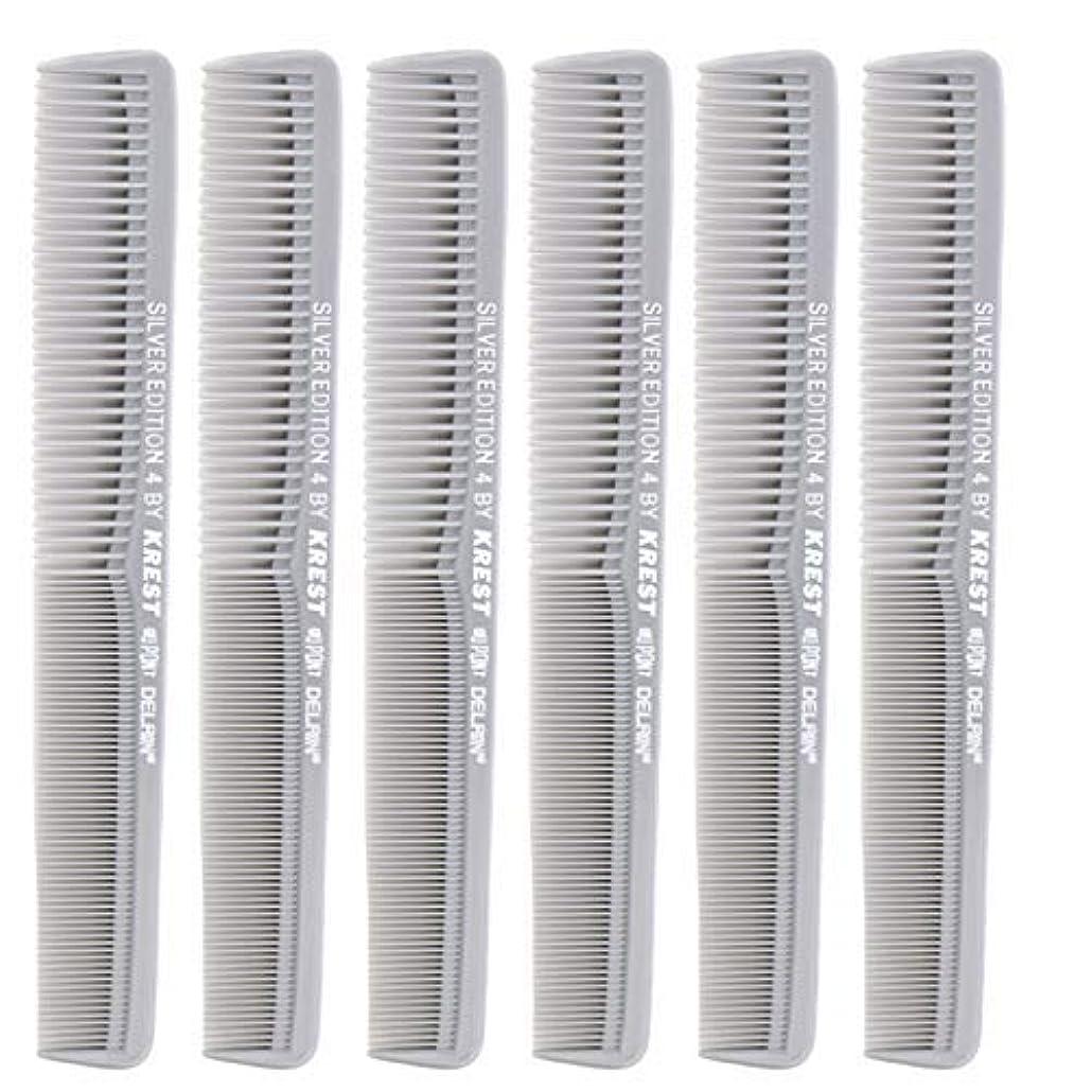 ハンサムフィクションフィヨルド7 In. Silver Edition Heat Resistant All Purpose Hair Comb Model #4 Krest Comb, [並行輸入品]