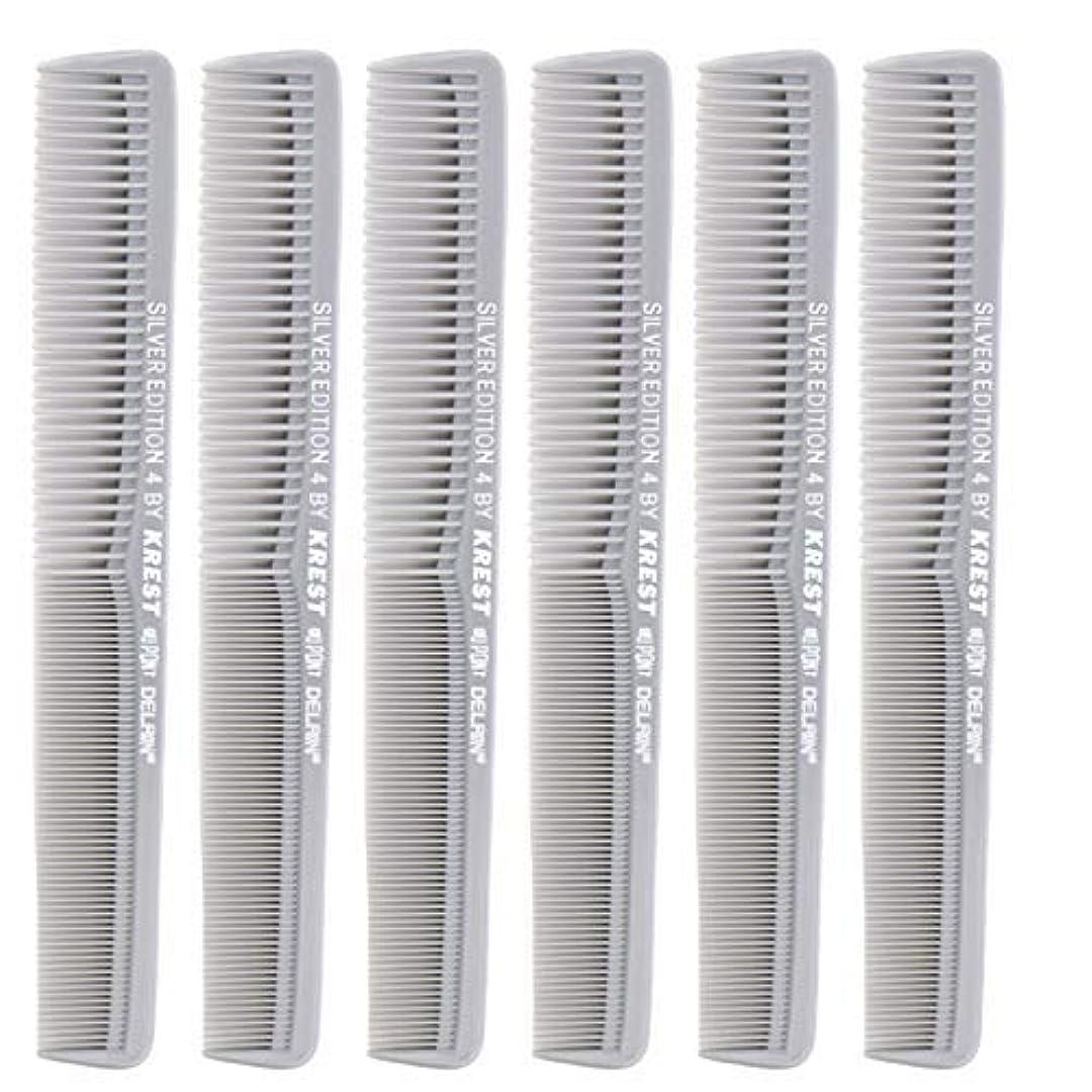 価格富素敵な7 In. Silver Edition Heat Resistant All Purpose Hair Comb Model #4 Krest Comb, [並行輸入品]