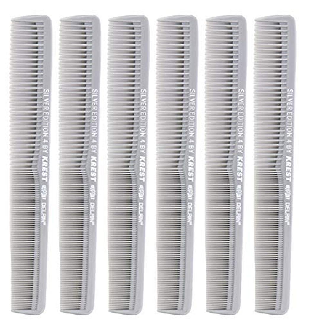機械的に不定主人7 In. Silver Edition Heat Resistant All Purpose Hair Comb Model #4 Krest Comb, [並行輸入品]
