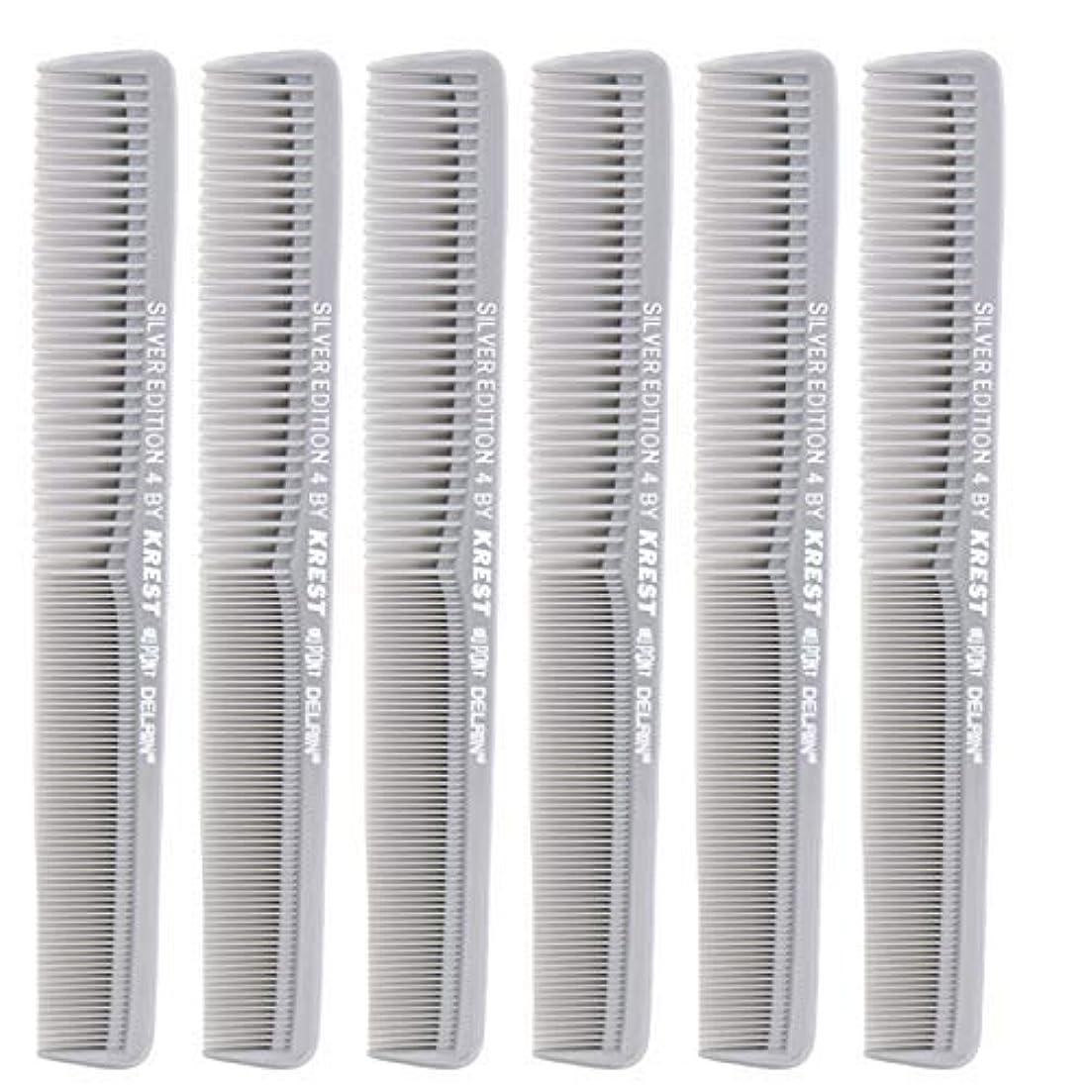 酔ったコック驚かす7 In. Silver Edition Heat Resistant All Purpose Hair Comb Model #4 Krest Comb, [並行輸入品]