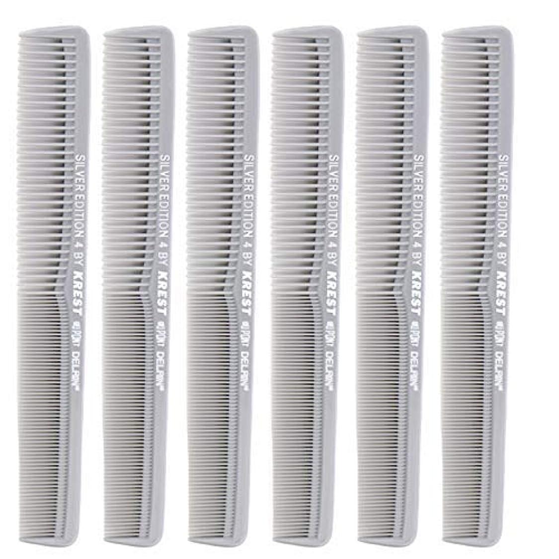 アジャ成熟筋肉の7 In. Silver Edition Heat Resistant All Purpose Hair Comb Model #4 Krest Comb, [並行輸入品]